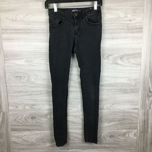 Blue Age Super Stretch Black Solid Skinny Jeans 3
